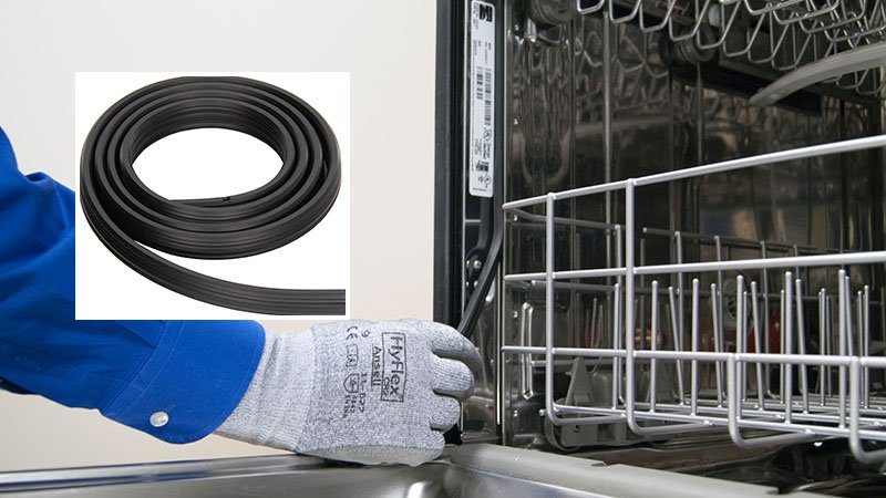How to replace LG dishwasher door seal