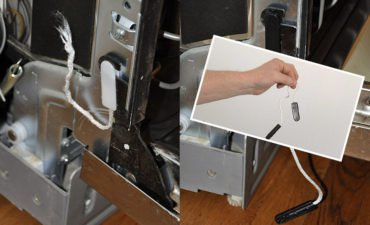 LG dishwasher door hinge repair